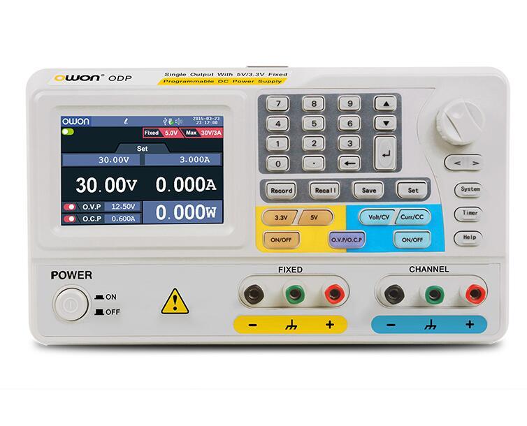 OWON ODP3031 105 W programmable LABORATOIRE alimentation 30 V 3A 1mV 1mA Résolution 1-CH Sortie, avec 5 V/3.3 V Fixe DC Alimentation