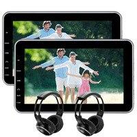 EinCar 10.1 Tablet Style Ultra thin Car Headrest DVD Player Rear Seat Entertainment System USB/SD/HDMI Port, Remote Control
