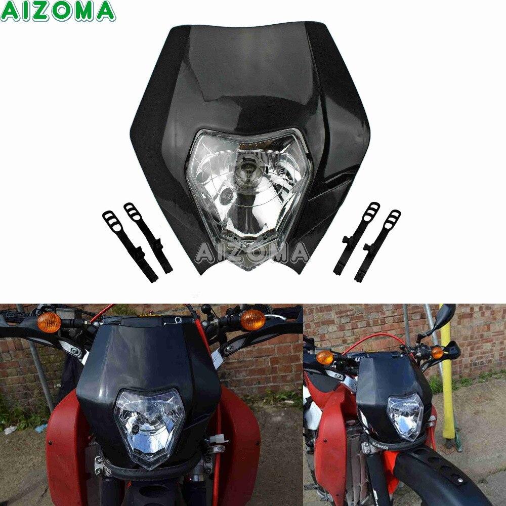 Racing Bike Headlight Mask 12v Head Lights Fairing Universal For KTM EXC-F SX-F XC-F SMC SMR EXC SX 125 250 300 500 Supermoto