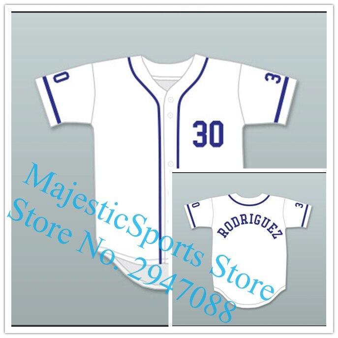 Benny  The Jet  Rodriguez 30 Baseball Jersey The Sandlot Gray White Jersey 2fa6e326e