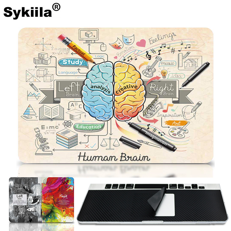 Sykiila Brain Colorful voor Sticker Macbook Air 11 12 13 Pro 13 15 Retina Decal Laptop Wall Car Vinyllogo Skin Marble Matte