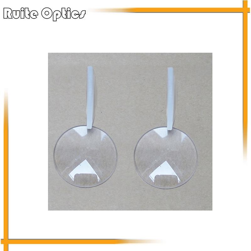 √2 unids 32mm diámetro focal 80mm plano convexo Lente de Cristal ...