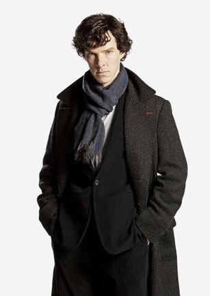 Sherlock Holmes cosplay scarf cashmere thickening Sherlock Holmes is watching U Sherlock Scarves Wrap Halloween Gift