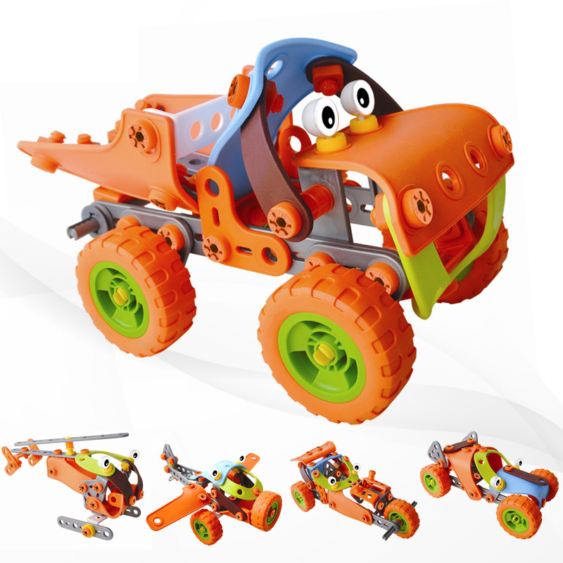 DIY Kids Assembly Nuts Puzzle Toy Children Creative Model Building Blocks Disassemble Car Airplane Model for Boys Gift universe ru bun lock children puzzle toy building blocks