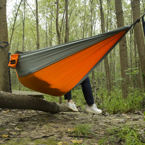 Image 5 - Acehmks Outdoor Hammock Garden Camping Sports Home Travel Hang Bed Double 2 Person Leisure Travel Parachute Hammocks