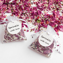 Natural Wedding Confetti With Organza Bag Dried Flower Petals Pop and Party Decoration Biodegradable Rose Petal