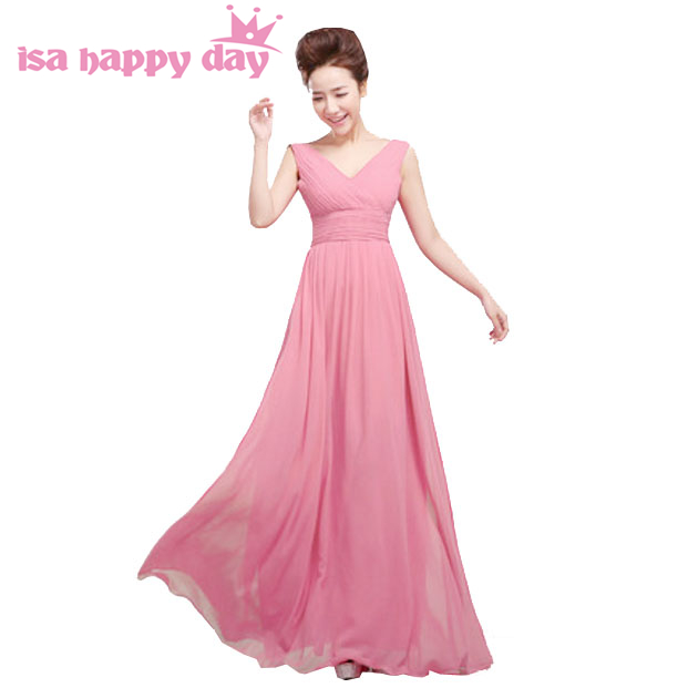 50ea1828b9c8c robe-de-soiree long unique red blush chiffon V neck elegant dress party  evening elegant special occasion dresses 2019 H1180