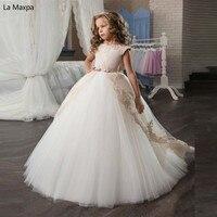 Детская одежда для свадеб длинное платье пачка платье принцессы Детские подарки на день рождения костюм белый рояль Елец Выпускной вечерни