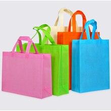 20 pcs custom printed LOGO Custom Logo Non woven Reusable Shopping Bag bolsas reutilizables al por mayor shopper bag