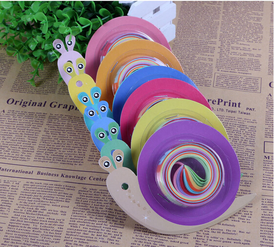 Free Shipping10pcs Lot Snail Fish Style Star Handcraft Origami Lucky Strips DIY Paper Decoration