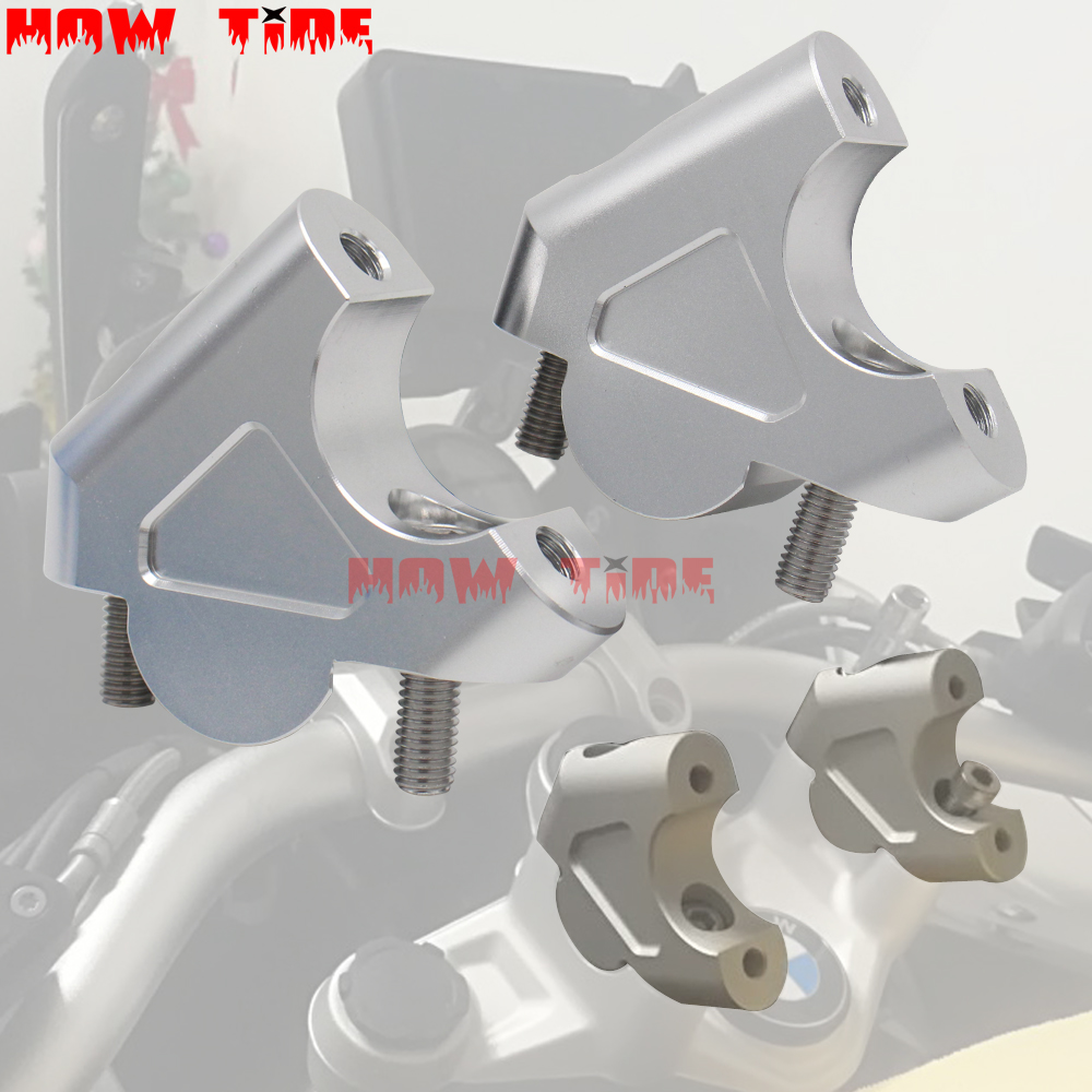 CNC Machining Handlebar Risers Bar Clamp Extend Adapter With Bolts For BMW <font><b>S</b></font> <font><b>1000</b></font> <font><b>XR</b></font> S1000XR S1000R S1000 R 2014 2015 2016 2017 image