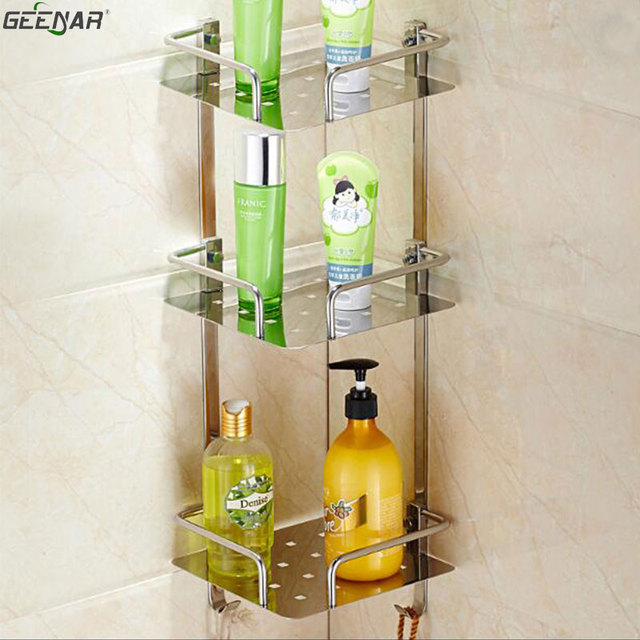 Bathroom, kitchen shelves, 304 stainless steel bathroom, shelf, wall ...