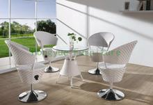 Indoor white rattan adjustable bar set furniture