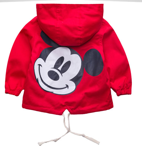 2019 new hot sell Spring Boys Girls Jackets For Children Hooded Cute Windbreaker Kids Coats Baby Clothes Outerwear Clothing