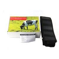 Корова овец солнечной gps трекер кожаный ошейник Водонепроницаемый реального времени локатор для больших Размеры Животные Корова Лошадь ве