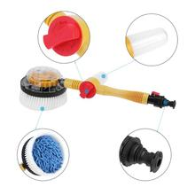 Auto Spinning Car Washing Brush with Soap Tube for Auto Clean