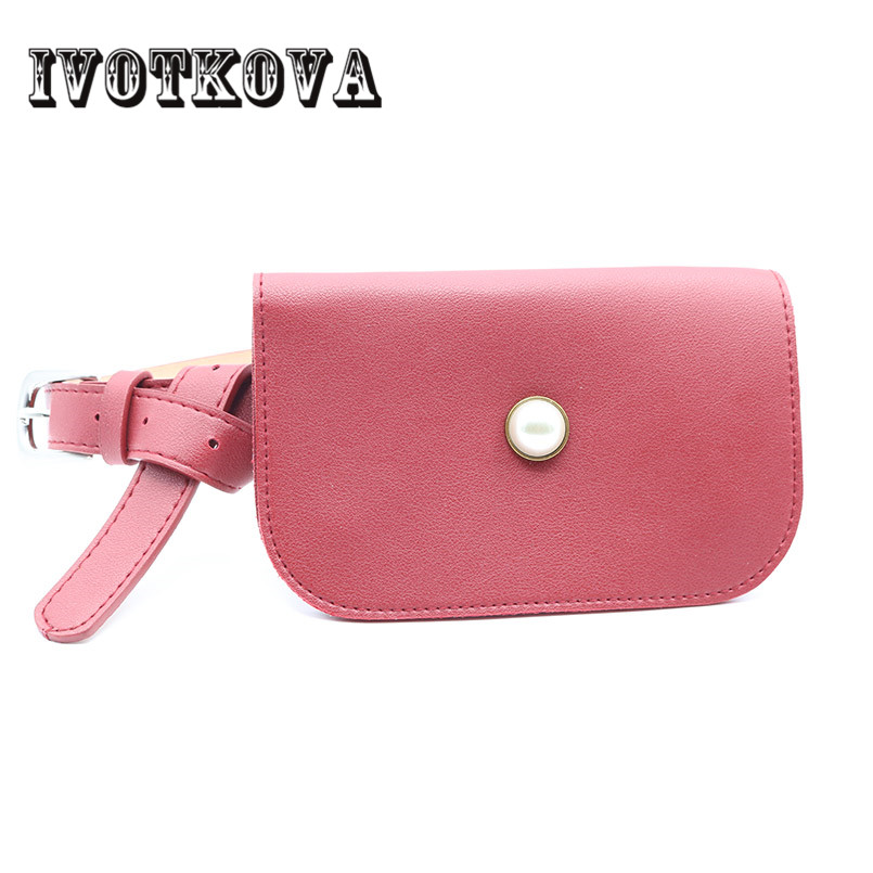 IVOTKOVA Fashion Women Pu Leather Belt Waist Packs New Style Mini Shoulder Bag Vintage Small Coin Key Phone Bag Drop Shipping все цены