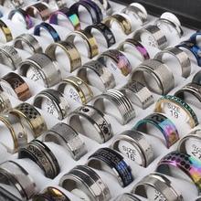 مجوهرات من صلب لا يصدأ حلقة 100 قطعة/صندوق تصميم هندسي مختلط أنماط للرجال نساء الشرير البنصر Anillo دي ديدو بالجملة مجموعة
