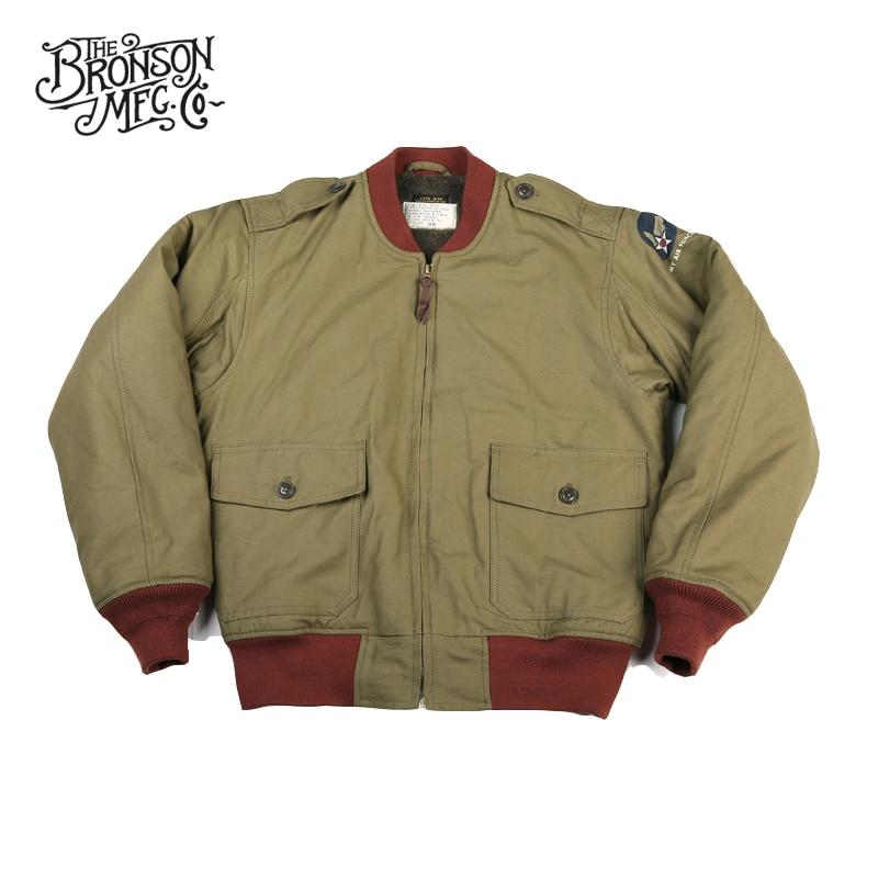 Bronson Repro B-10 (MOD) Flight Jacket Vintage Bomber Military Coat WW2 Uniform