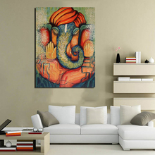 Contemporary Ganesha Wallpaper Minimalist Art Canvas Poster Painting Wall Picture Print Modern Home Bedroom Decoration Framework
