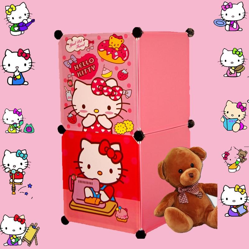 2 Cubes Childrenu0027s Cartoon Wardrobe Closet Storage Cabinet Clothing Armoire  Kids Closet Organizer Storage Organizers(