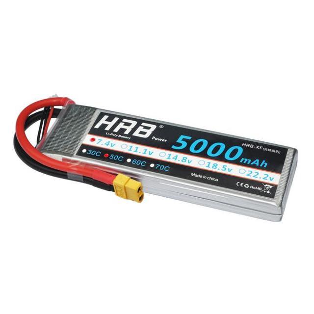 HRB 2S 7.4V 5000mAh 50C Lipo