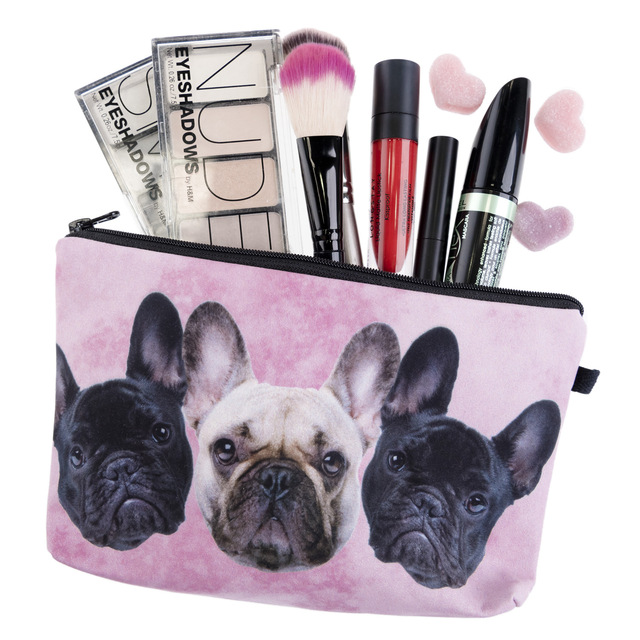 Dog Face Travel Toiletry Bag | Makeup Bag Clutch Purse