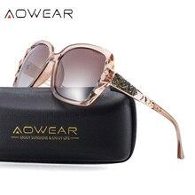 AOWEAR, роскошные брендовые негабаритные солнцезащитные очки, женские, поляризационные, модные, солнцезащитные очки, женские, для улицы, солнцезащитные очки, призматические Oculos