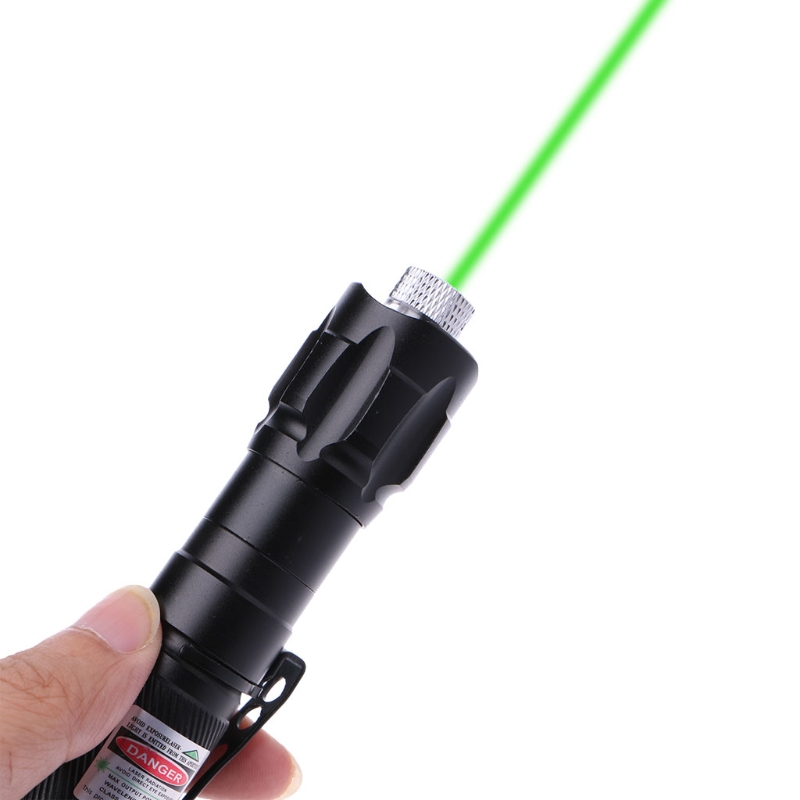 Powerful Green Laser Pointer Pen Lazer Light 532nm 5mw 009 Adjustable Focus Visible Beam