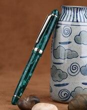Moonman S3 Nhựa Acrylic Bút máy Xanh Iridi Thêm Mỹ/Mỹ Ngòi 0.38/0.5mm Viết Bút Mực viền Vàng Tặng Bút Cảm Ứng