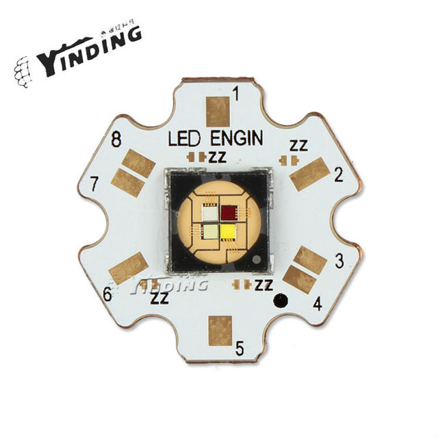 1pcs LEDEngin LZ4 RGBW Flat Lens 20W Hight Power LED Emitter Lamp Light Blub LED Chip With 20MM PCB Heatsink