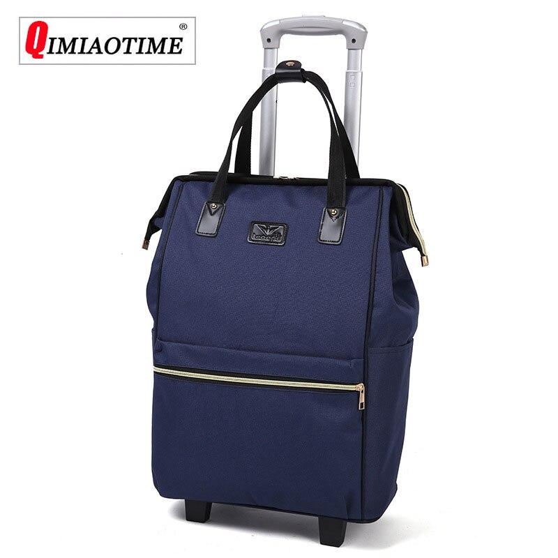 Grande capacidade oxford pano à prova dwaterproof água maletas de viaje com ruedas envio malas de viagem conjunto de bagagem rolando saco de viagem rodízios fixos