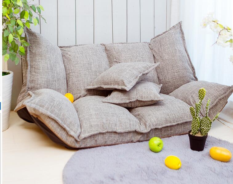 Modern Folding Sofa Bed Adjustable Arm Reclining Back