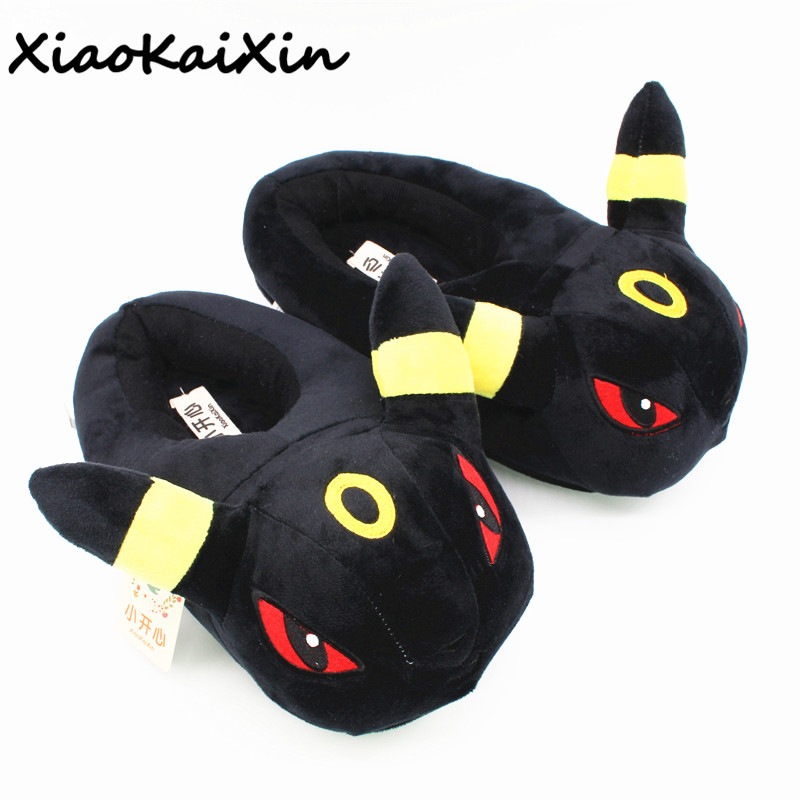 New Unisex Anime Cartoon Pokemon Series Slippers House Women Warm Indoor Wood Floor Home Plush Shoes Mens Pikachu Fluffy Slipper