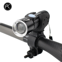 PCycling Bicycle Light 2000 Lumen USB Rechargeable Bike Front Light MTB Bike Light Zoom Flashlight Waterproof