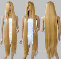150cm 60'' Long Rapunzel Tangled Light Golden Blonde Straight Cosplay Hair Wig