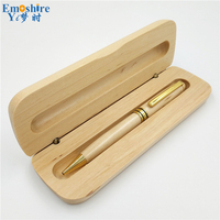 Maple Ball Pen With Pencil Case Set Pencil Box Natural Custom LOGO High Quality Teacher Students
