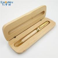 Maple Ball Pen With Pencil Case Set Pencil Box Natural Custom LOGO High Quality Teacher Students