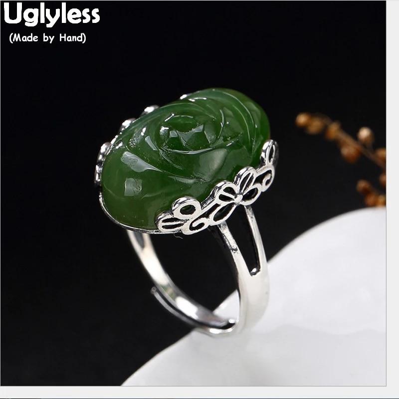 Handmade Jewelry Jade Ring 925 Jade Ring Jade, Handmade Jade Ring Green Jade Jade Jewelry Jade Ring Size 9 Handmade Ring