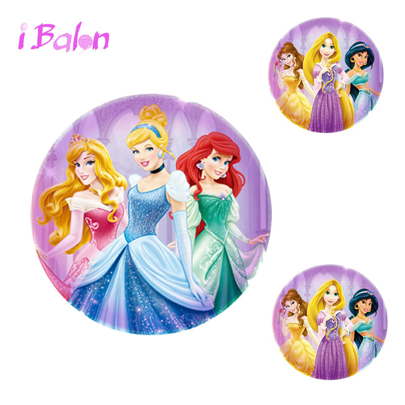 30pcs Princess foil balloons Queen Princess balloon birthday party decorations kids baby shower supplies child toys wholesale
