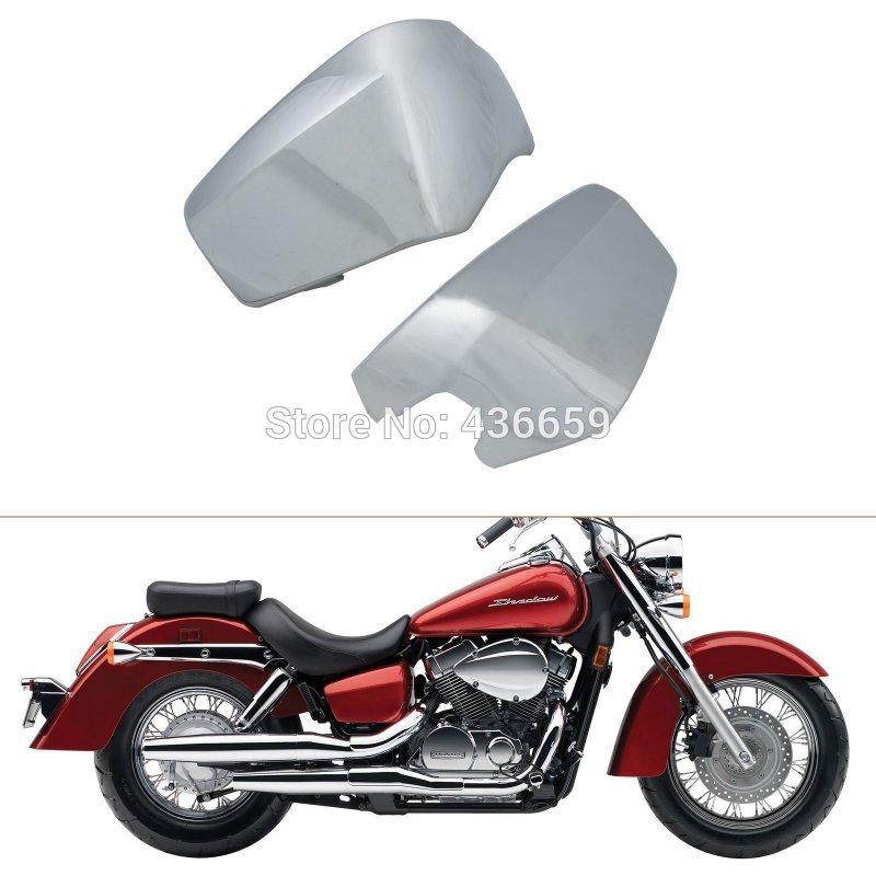 ФОТО Motorcycle ABS Plastic Chrome Battery Side Fairing Covers For Honda Shadow Aero VT750C VT750CD 2004-2014