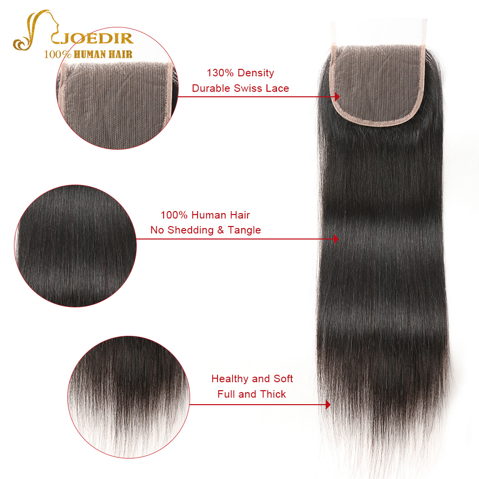 Joedir Brazilian Straight Hair Bundles With Closure 3 Bundle Deals 4 - Skönhet och hälsa - Foto 5