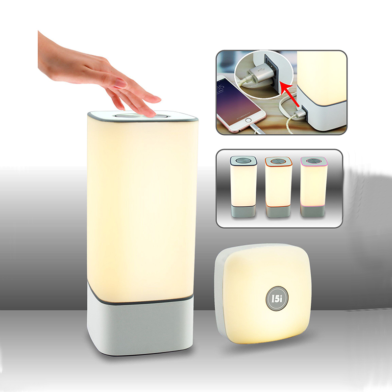 Wireless Touch Sensor LED Night Light 3000K Warm White Master Servant Lamps Kit Colorful LED Wall Lamp For Bedroom Kitchen Home