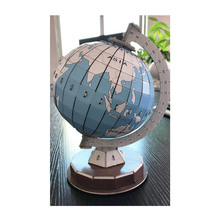 3D Puzzle World Globe Planet Model Assembled Educational Toys 3D Colour Matching Drawing Brinquedo Kids Paper Jigsaw Toys