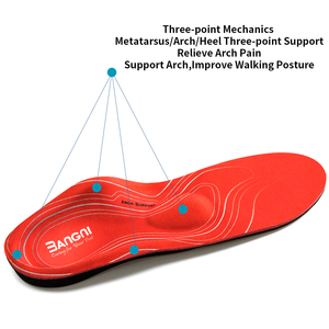 Image 5 - 3ANGNI Severe Flat feet insoles  Orthotic Arch Support  Inserts Orthopedic Insoles Heel Pain Plantar Fasciitis Men Woman Shoes
