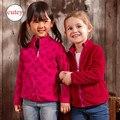 Para 4-7 años 2017 de Spring & Autumn niños hoodies de Las Muchachas de doble forro polar chaquetas y abrigos para niños chicas sudadera de Alta Calidad