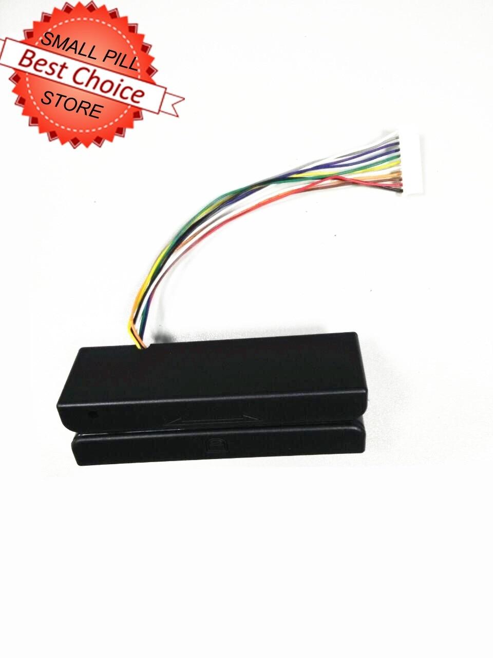 Mini Lettore di Carte a Banda Magnetica 3 Tracce RS232/PS2/USB/TTL pista 1 2 3Mini Lettore di Carte a Banda Magnetica 3 Tracce RS232/PS2/USB/TTL pista 1 2 3