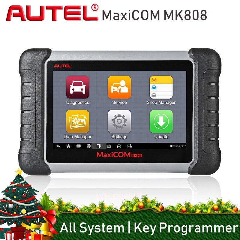Autel MaxiCom MK808 Automotive Diagnostica di Scansione Scanner Auto Strumento di Analisi Del Motore Tutti I Sistemi di Olio di Reset EPB DPF TPMS Programmatore Chiave
