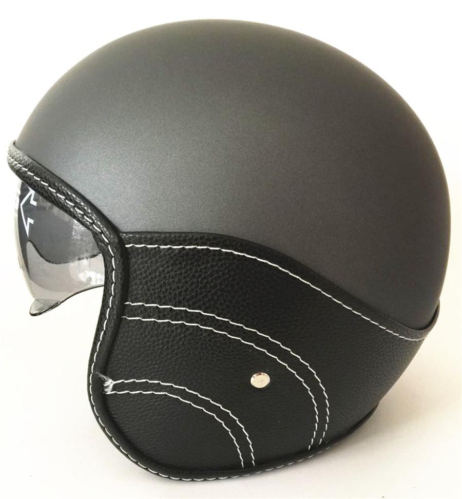 WANLi Motorcycle Racing Helmet Capacetes De Motociclista Motorcycle Vintage Helmets With Lens Open Face Motorcycle Helmet