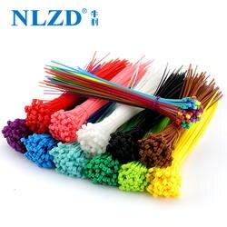 Мм 200 мм самоблокирующиеся Нейлоновые кабельные стяжки 8 дюймов 100 шт. 12 цветов пластмассовая застежка-молния 18 фунтов черный провод
